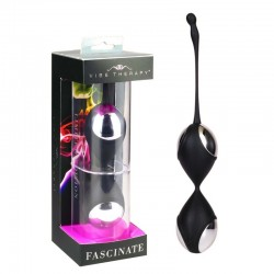 Vibe Therapy Fascinate Duo Balls Limited Edition noir chromé