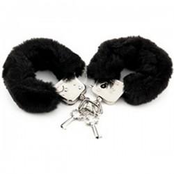 Menottes fourrure Noire