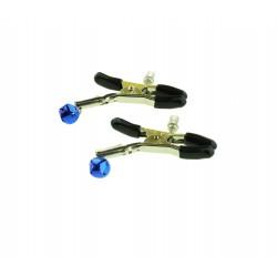 WOBO Pinces à tétons perle bleue