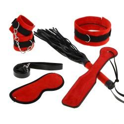 BLACK WOLF Coffret bondage rouge et noir velours