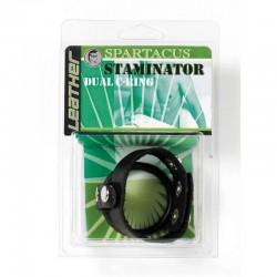 SPARTACUS Staminator Leather Dual Ring