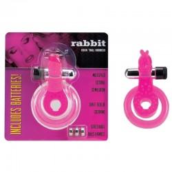 Cock & Ball Harness Rabbit rose