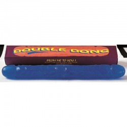 Double gode bleu Doppel-Kunst-Jelly-Penis