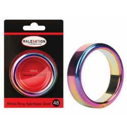 MALESATION Metal Ring Rainbow Steel 48