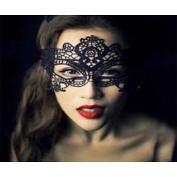 BLACK WOLF Masque dentelle noir BW82046