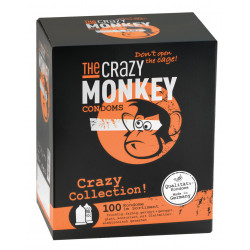 THE CRAZY MONKEY Condoms Crazy Collection 100 St.
