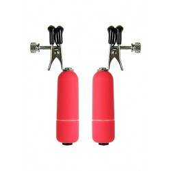 OUCH! Vibrating Nipple Clamps rouge