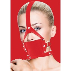 OUCH! Leather Mouth Gag rouge