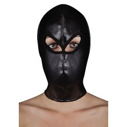 OUCH! Extreme Leather Hood with Ribbon Ties