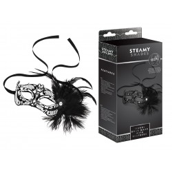 STEAMY SHADES Mardi Gras Mask with Feathers