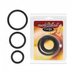 Cock & ball rings rubber set