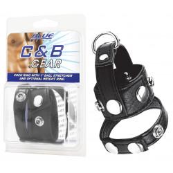 "bleu LINE C&B GEAR Cock Ring 1"" étireur de testicules"