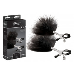 STEAMY SHADES Adjustable Feather Nipple Clamps