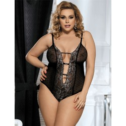 OH OUI! Body grande taille broderie contrastée