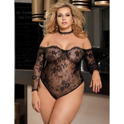 OH OUI! Body grande taille manches longues dentelle
