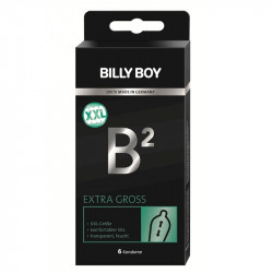 6 préservatifs BILLY BOY B² Extra Large