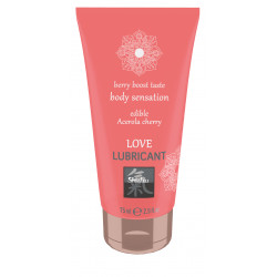 SHIATSU Edible Love lubricant - Cerise Acerola 75ml