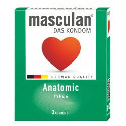 MASCULAN Préservatif Anatomic par 3