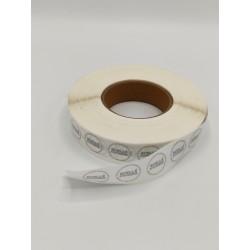 Rouleau de stickers ronds Scellé d'hygiène 1X5000
