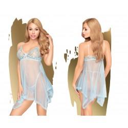 PENTHOUSE LINGERIE Badydoll Naughty Doll M/L Bleu