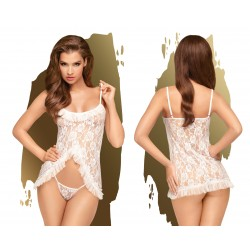 PENTHOUSE LINGERIE Babydoll Flawless Love L/XL Blanche